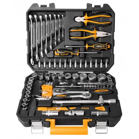 Caja herramientas 77 piezas INGCO