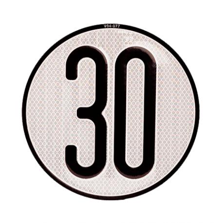 Placa limite velocidad 30 km/h