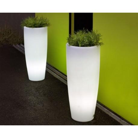 Maceta Bambu 70 LED Solar